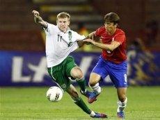 Эпизод матча с участием сборной Ирландии