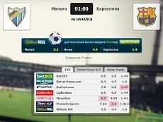 Сравнение коэффициентов на встречу «Ювентус» – «Лацио» в матч-центре «Рейтинга Букмекеров»