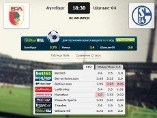 Сравнение коэффициентов на встречу «Аугсбург» – «Шальке-04» в матч-центре «Рейтинга Букмекеров»