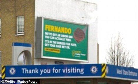 Рекламный щит компании Paddy Power возле стадиона «Стэмфорд Бридж»
