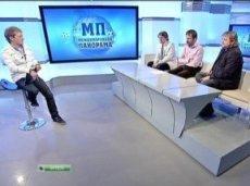 """Михаил во время эфира """"Международной панорамы"""""""