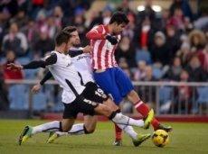 На «Висенте Кальдерон» «Атлетико» заметно доминирует