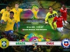 Бразилия и Чили оспорят путевку в четвертьфинал