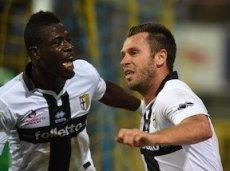 Антонио Кассано забивает первый гол «Милану»