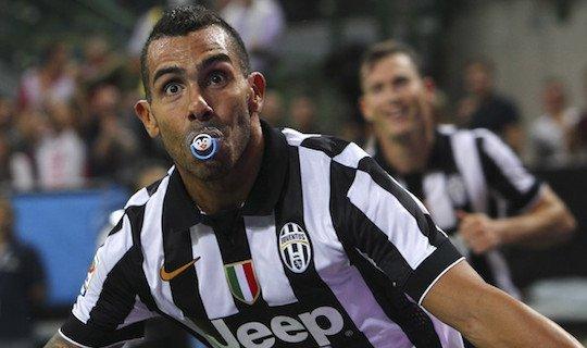 Тевес отпраздновал гол «Милану» соской