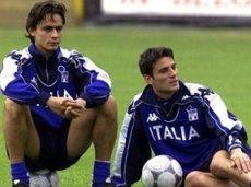 Пиппо и Монтелла в расположении сборной Италии