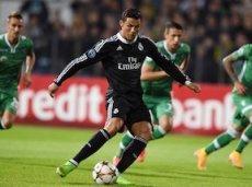 Роналду не смог реализовать 11-метровый в матче с «Лудогорцем»