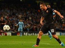 Тотти стал самым возрастным игроком, забившим гол в Лиге чемпионов