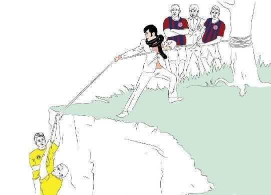 Примерно так выглядит нынешнее положение команд в Бундеслиге