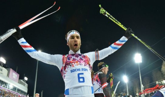 Французы выиграют мужскую эстафету в Рупольдинге