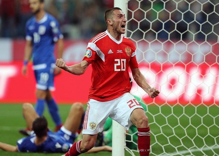 Алексей Ионов - автор единственного гола в ворота сборной Кипра