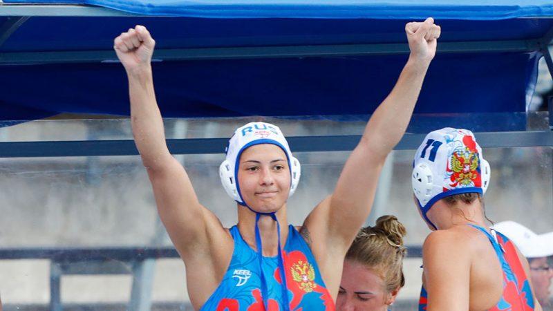 Чемпионат мира по водным видам спорта. Водное поло. Женщины. Сборная России победила Канаду