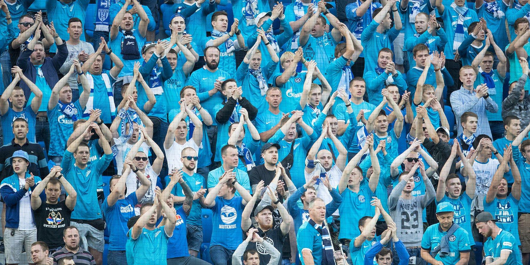 Фанаты «Зенита» покинули гостевой сектор в матче с «Уралом»