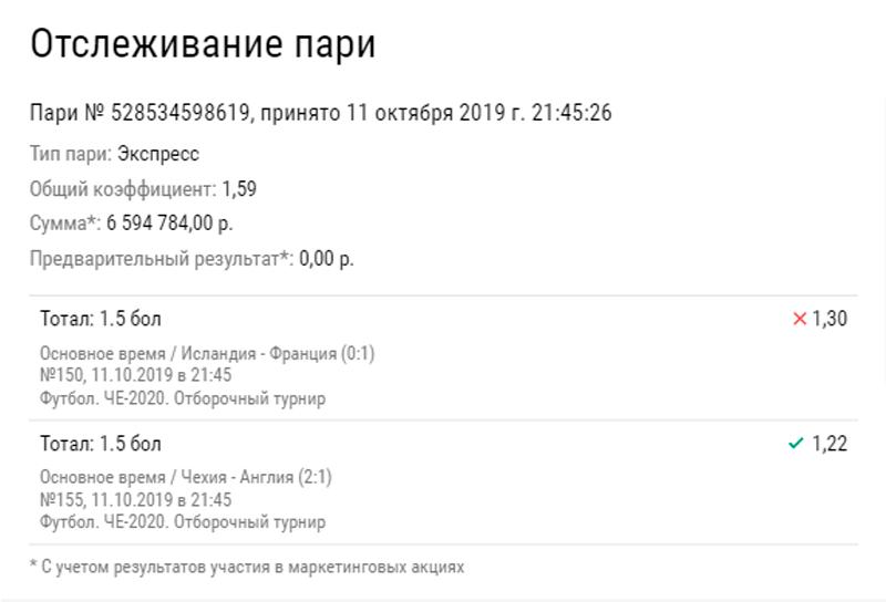 Как проиграть 6,5 рублей: краткое пособие от клиента букмекерской конторы