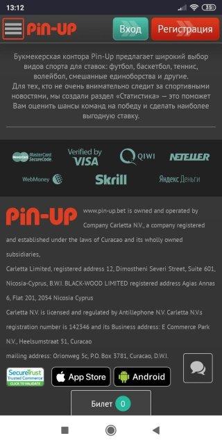 рабочее зеркало казино pin up доступно в мобильной версии сайта