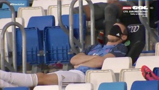 Так Гарет Бэйл выглядел прямо во время матча