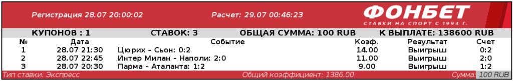 Краснодарец загрузил 100 рублей на экспресс и угадал точный счет трех матчей. Сумма выигрыша – шок