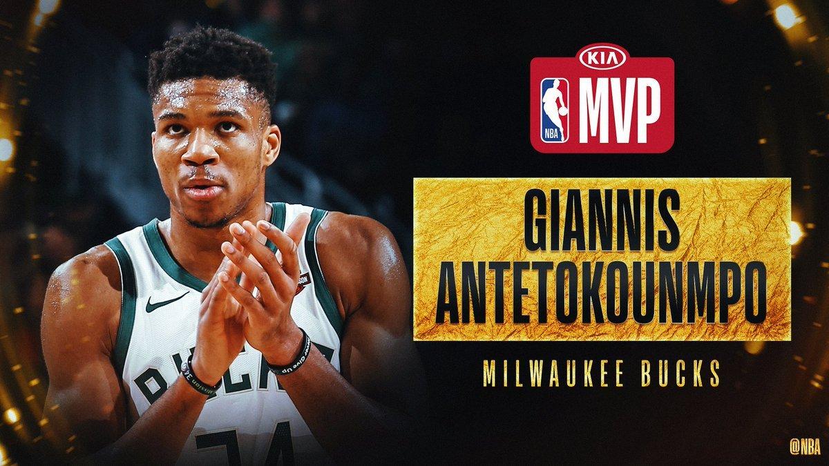 Яннис Адетокунбо второй сезон подряд самый ценный игрок НБА