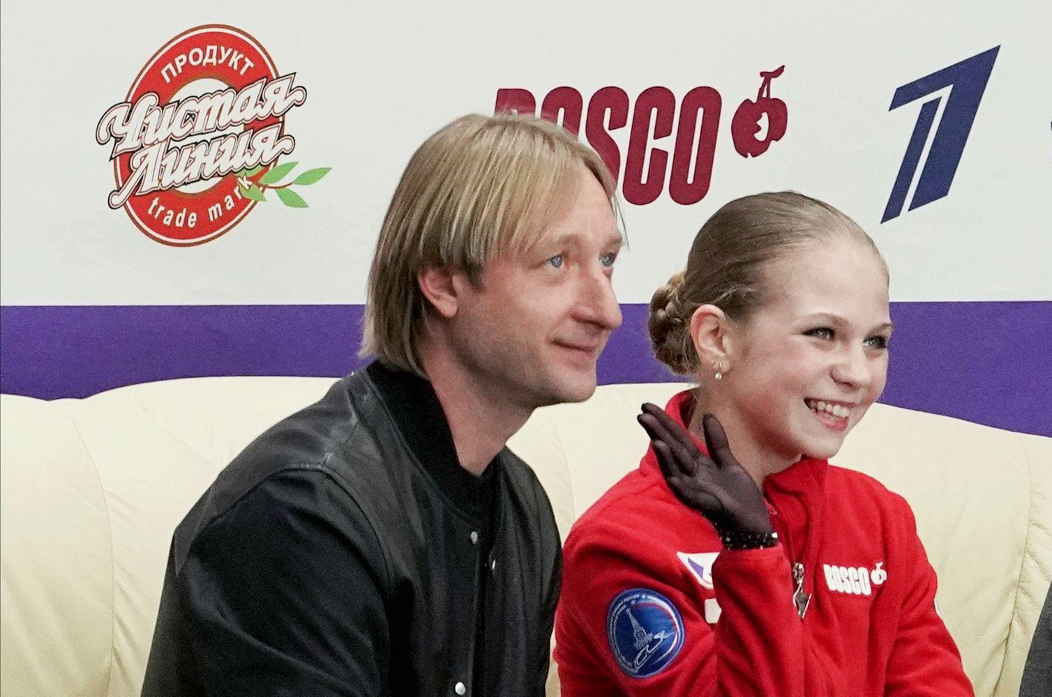 Евгений Плющенко и Александра Трусова