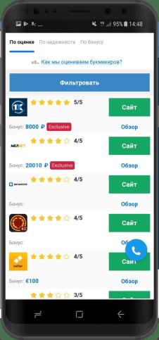 выбрать приложение по рейтингу