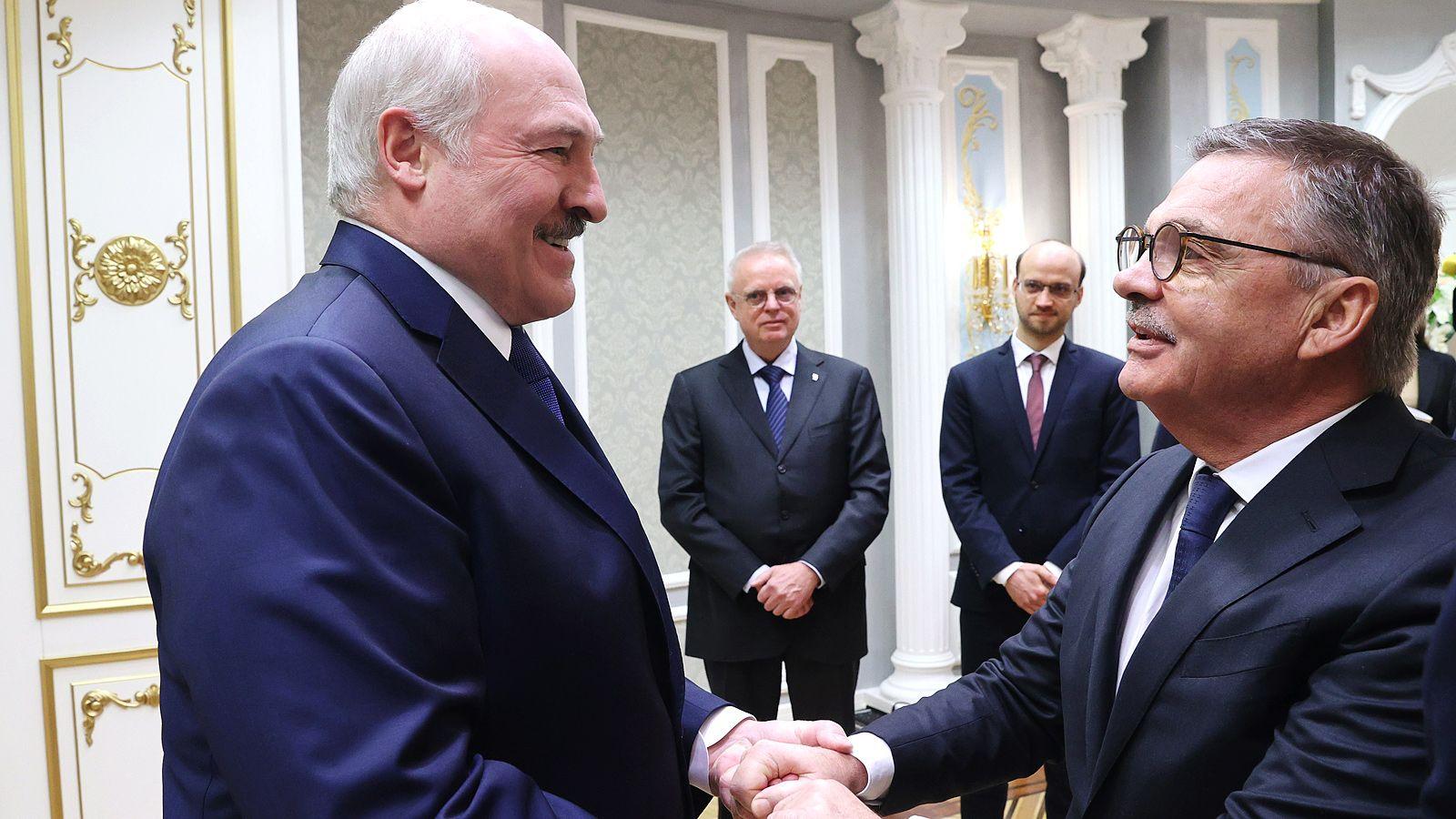 Александр Лукашенко и Рене Фазель