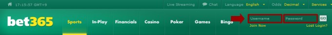 bet365 Log into