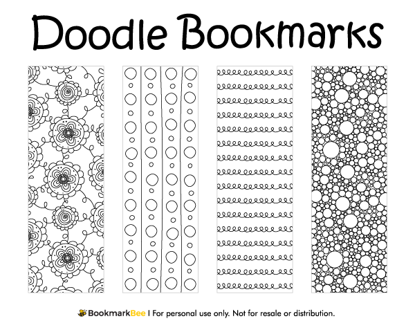 Printable Doodle Bookmarks