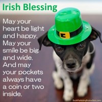 An Irish Blessing for Saint Patrick's Day
