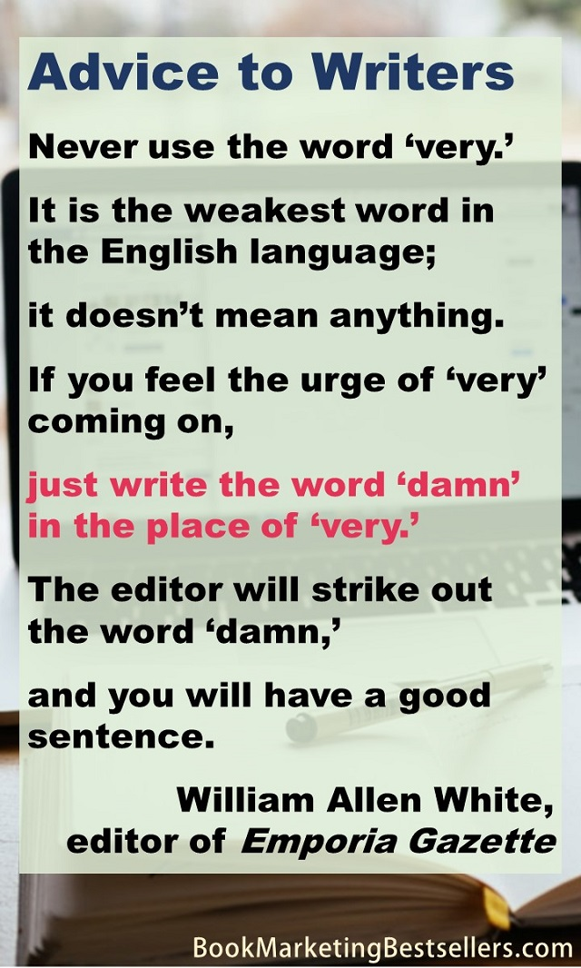How To Strike Out In Word : strike, William, Allen, White:, Advice, Writers, Marketing, Bestsellers