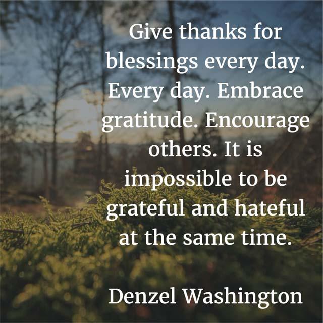 Denzel Washington: On Giving Thanks