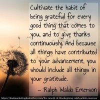 The Month of Thanksgiving: Ralph Waldo Emerson