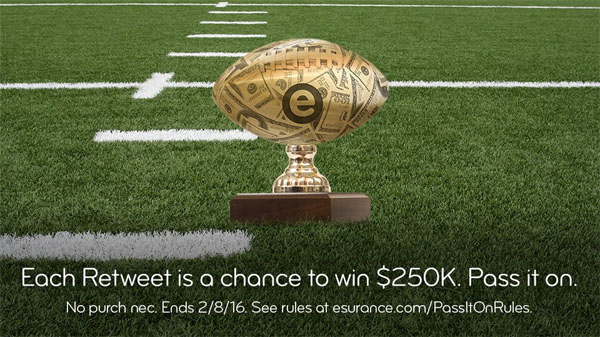 Esurance Super Bowl Sweepstakes