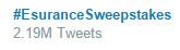 Esurance Sweepstakes hashtag