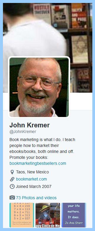 John Kremer on Twitter