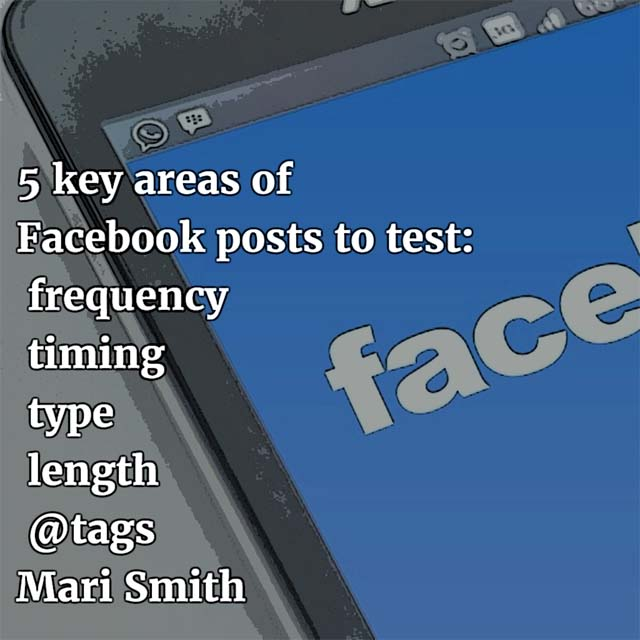 Mari Smith on Facebook testing