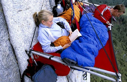 Reading a Book Off the Side of a Mountain