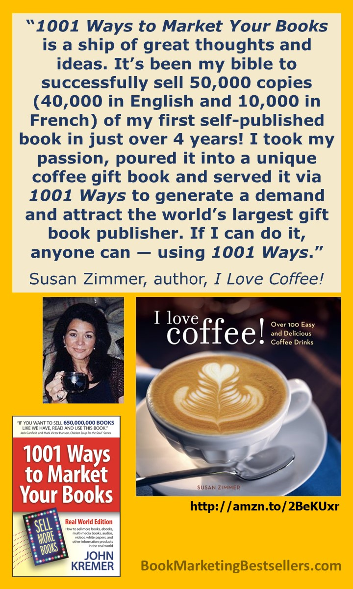 Susan Zimmer: On 1001 Ways to Market Your Books