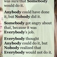 Everybody, Somebody, Anybody, and Nobody - Who Are You?