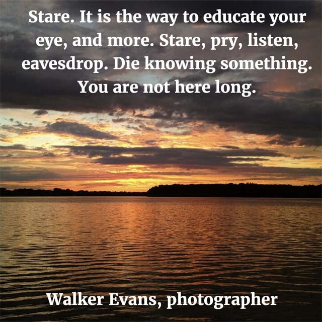 Walker Evans on observing