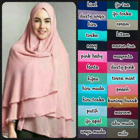 Gaya Jilbab Pashmina untuk beberapa Bentuk Wajah