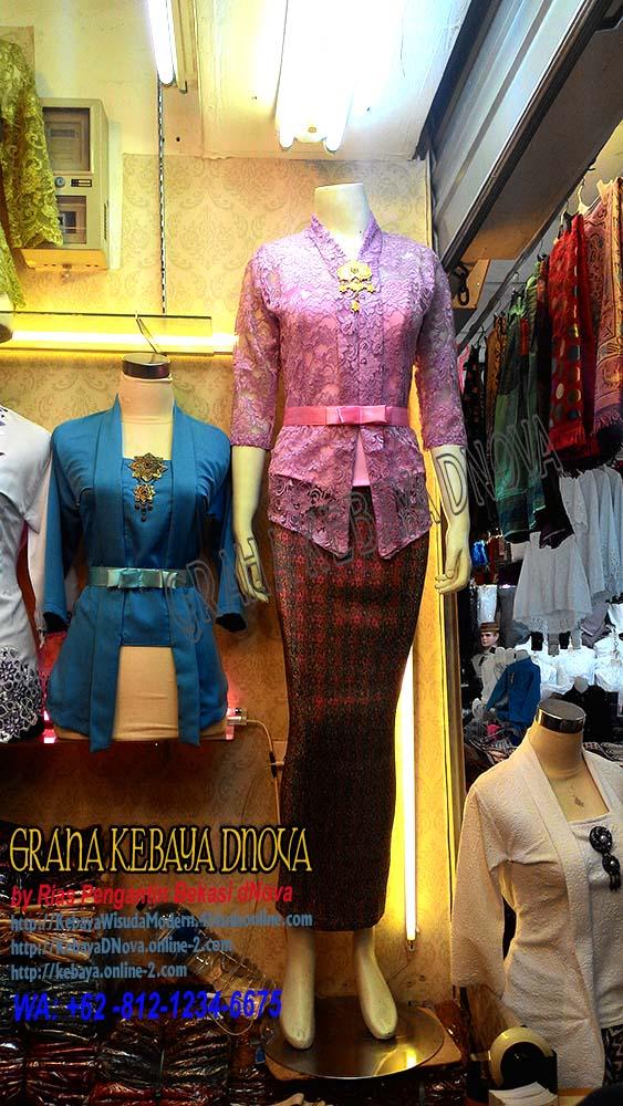 Produsen Kebaya Wisuda Murah - Kebaya Brokat Kartini Lengan 7per8 - Kebaya DNOVA 081212346675