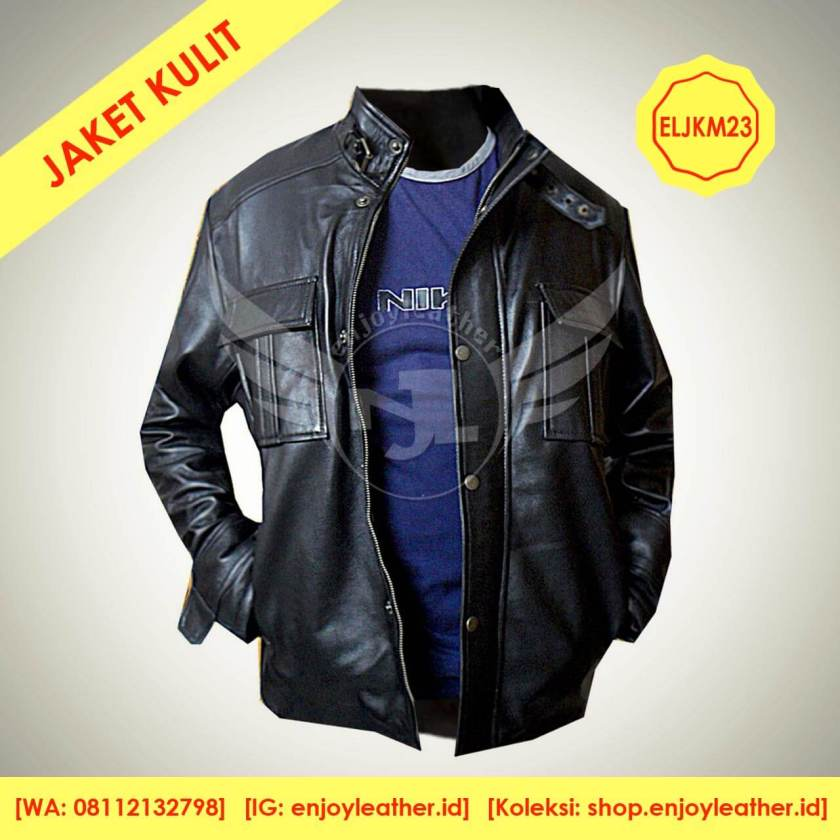Jaket kulit motor buatan Enjoy Leather Garut