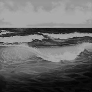 Sea waves drawing