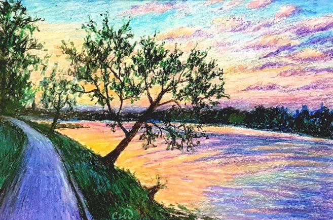 Pastel Painting technique