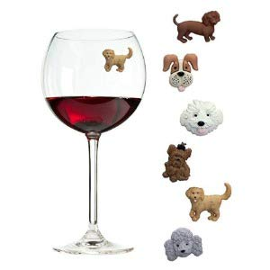 Dog Wine Charms
