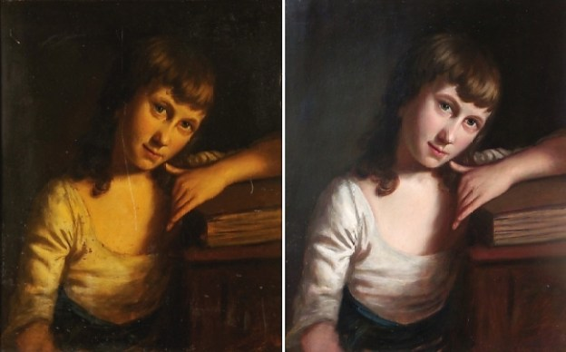 Restorations handmade portrait painting