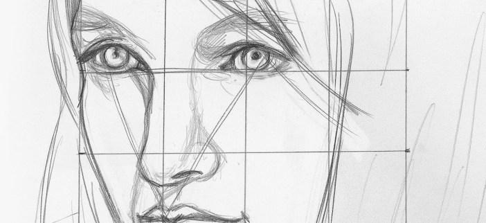 Watercolor portrait Initial Sketch