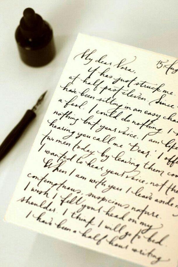 Handwritten Love Letter