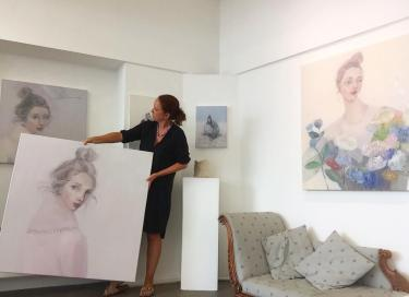Image result for hanging of portrait paintings