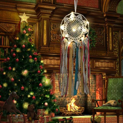 The Dream Catchers as Christmas Decoration Ideas